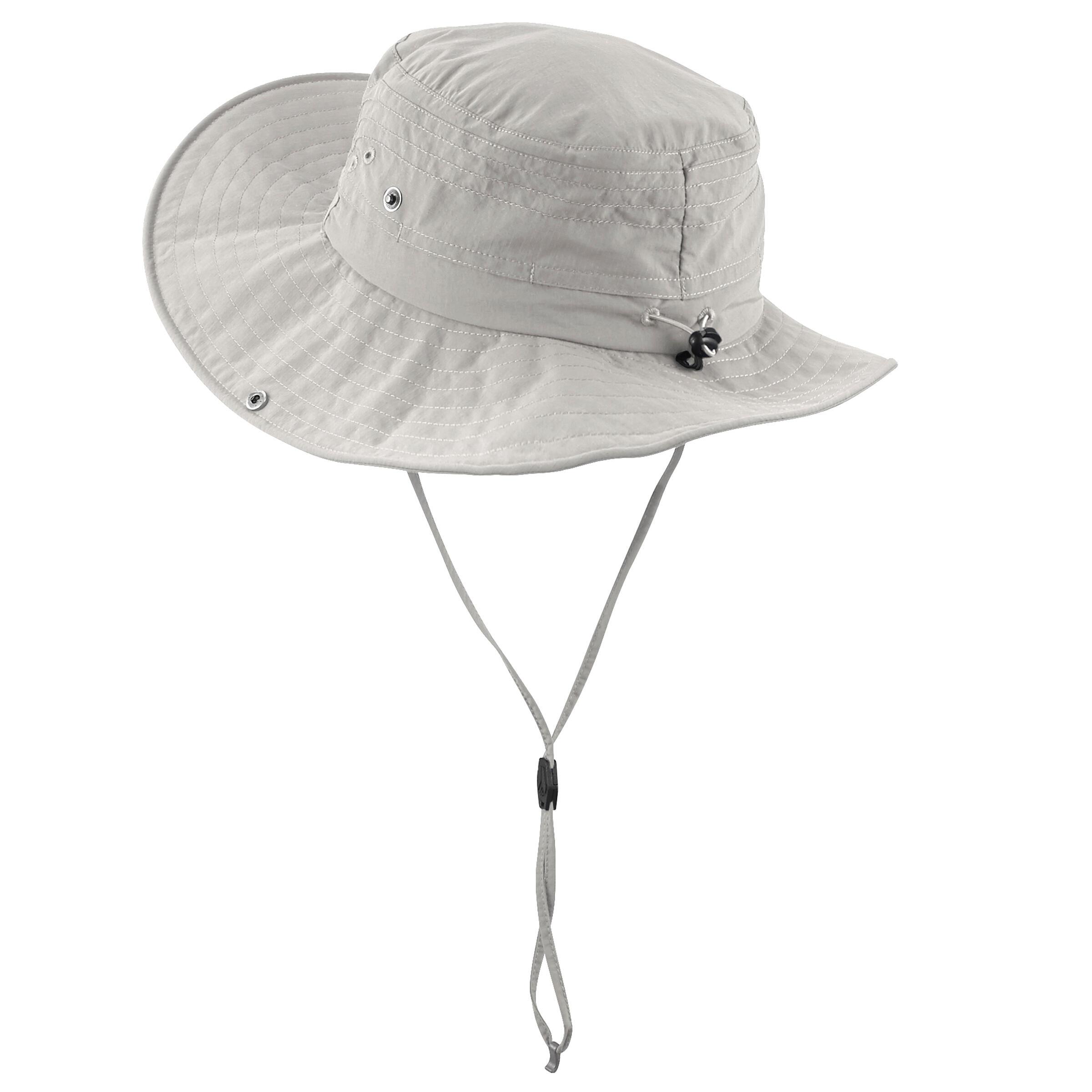 Trek 500 Anti-UV Mountain Trekking Hat - Beige