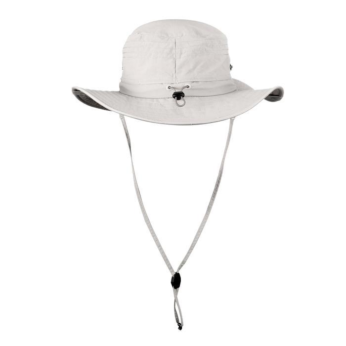 Uv-werende hoed voor bergtochten Trek 500 beige