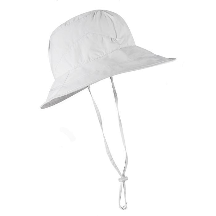 女款登山健行帽Trek 500-淺灰色
