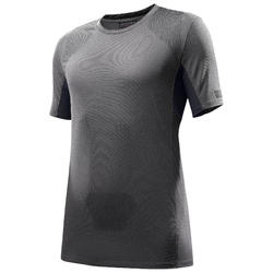 Heren T-shirt met korte mouwen voor bergtrekking Trek 100 grijs