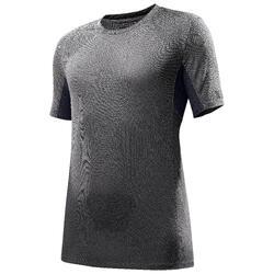 TREK 500 男士短袖健行運動T恤 - 灰色。