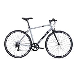 BICICLETA DE CARRETERA TRIBAN 100 FLAT BAR GRIS