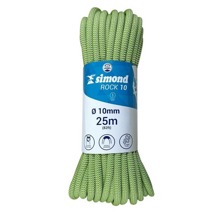 Corde d'escalade Indoor ROCK 10mm x 35m Verte - 1331432
