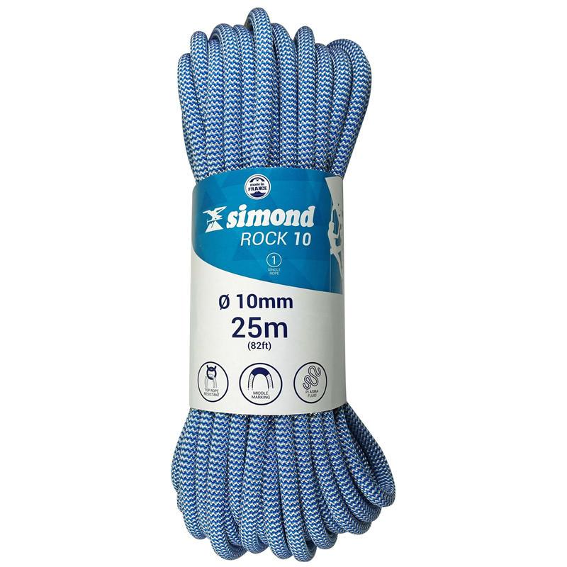 Cuerda de escalada Indoor Rock de 10 mm x 25 m azul