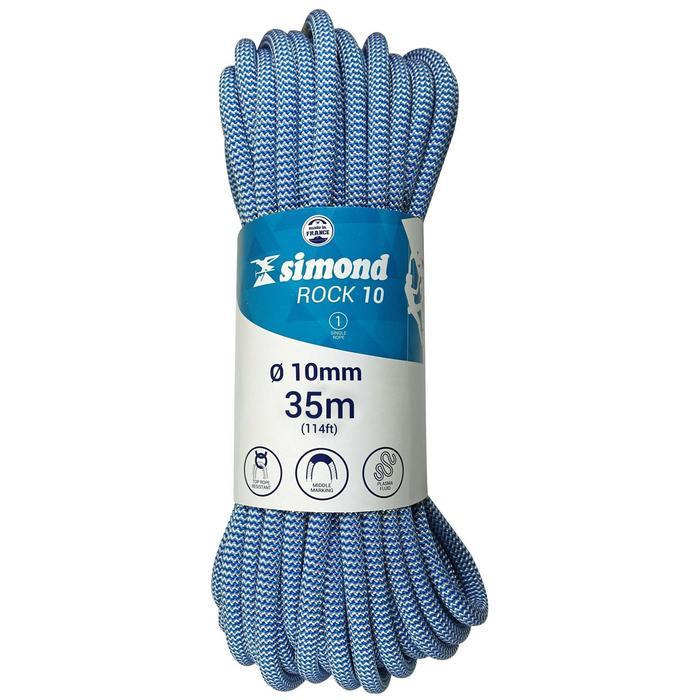 Cuerda de escalada Indoor ROCK de 10 mm x 35 m azul
