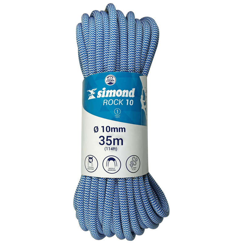 INDOOR ROPES - Rock 10mm x 35m Blue SIMOND