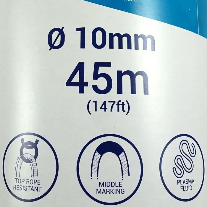Corde d'escalade Indoor ROCK 10mm x 35m Verte - 1331438