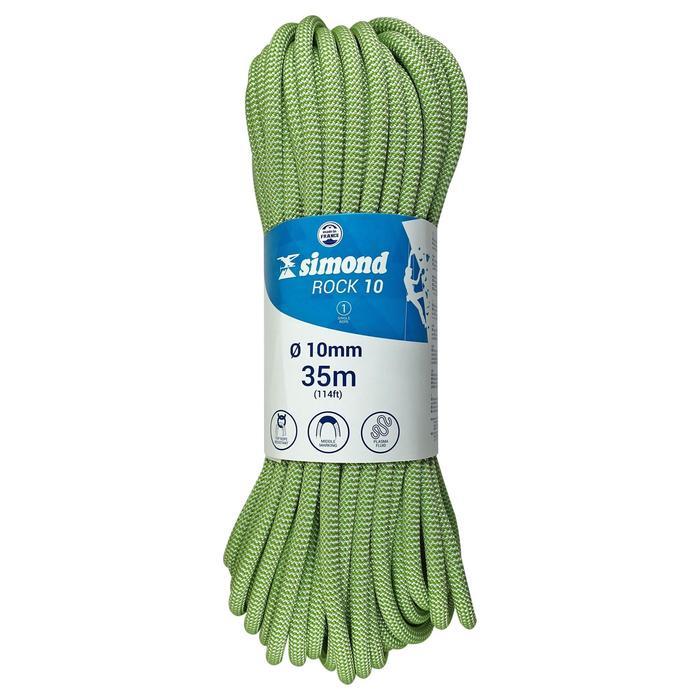 Corde d'escalade Indoor ROCK 10mm x 35m Verte - 1331439