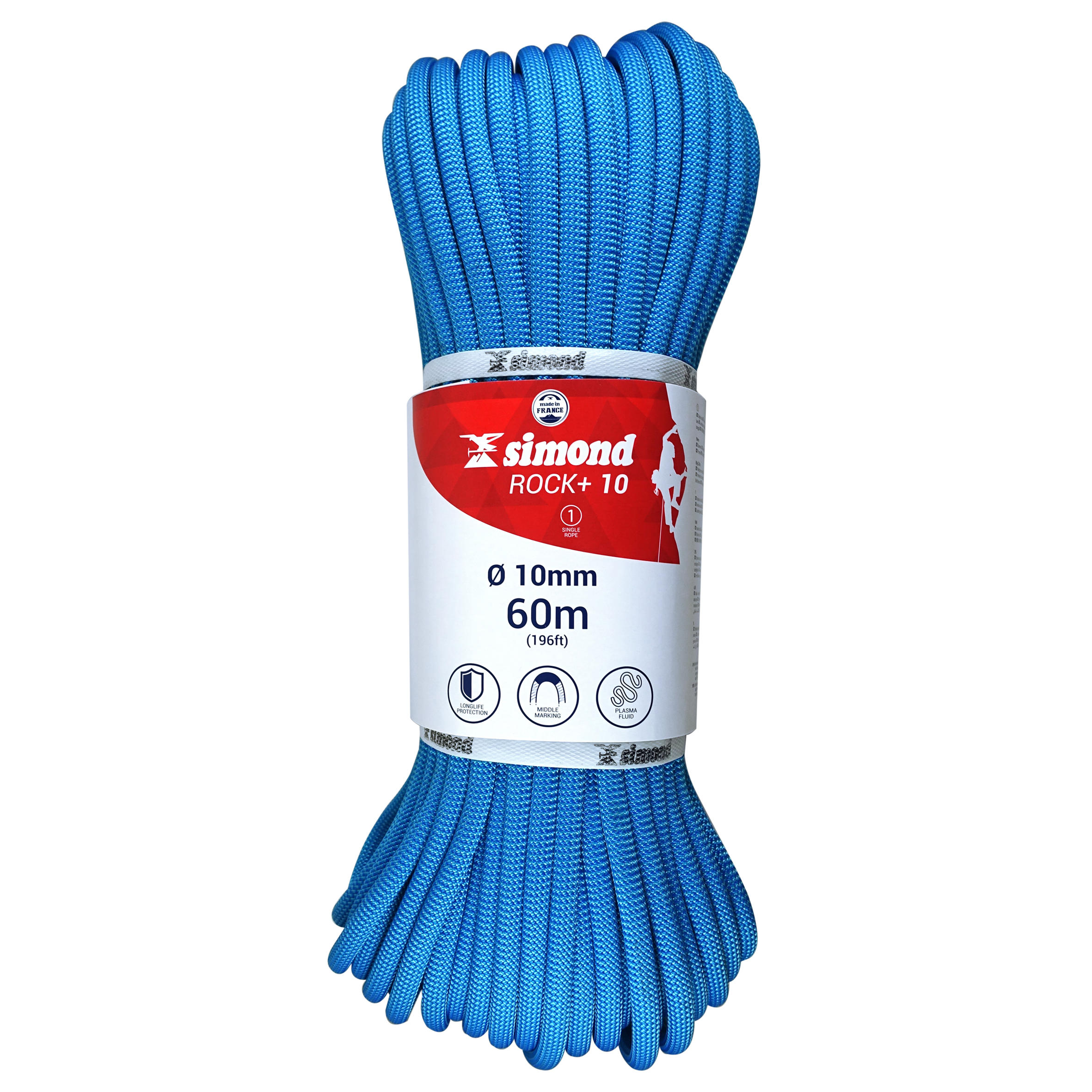 Rock + Climbing Rope 10mm x 60m Blue