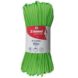 Cliff Climbing Rope - 9.5 x 80 m Green