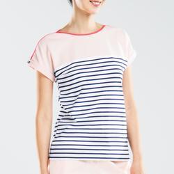 Women's 100 Adventure Short-sleeved Sailing T-Shirt Blue grey