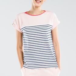 女款短袖T恤Sailing 100-粉紅色