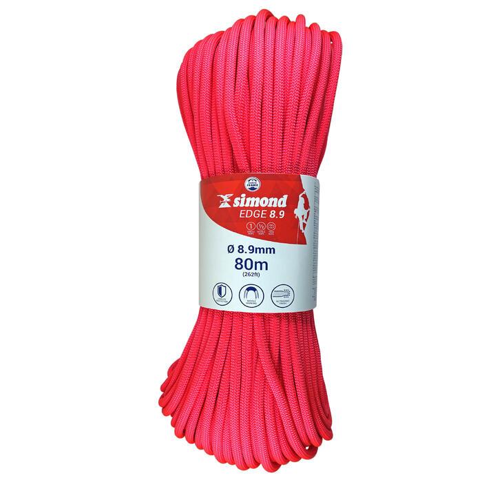 Cuerda de escalada EDGE de 8,9 mm x 80 m rosa