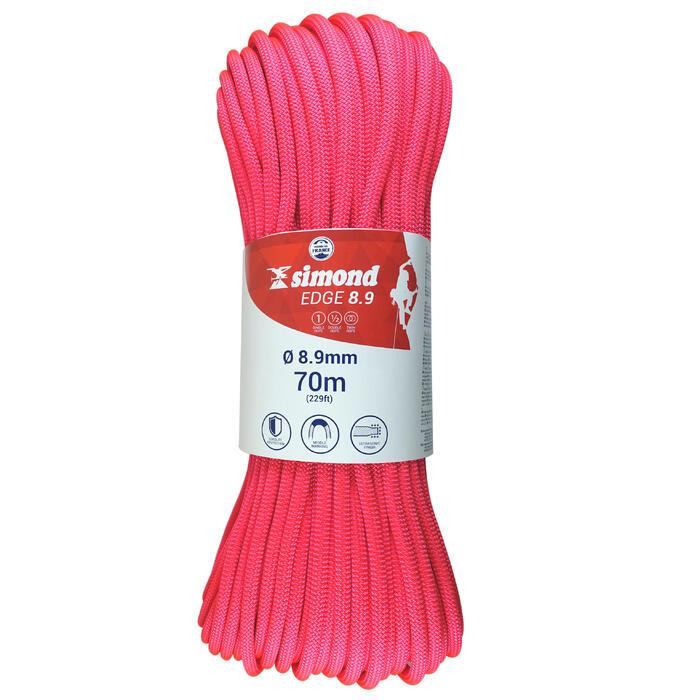 Klimtouw 3 normen 8,9 mm x 70 m Edge roze