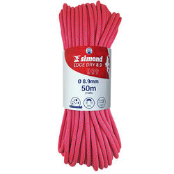 CORDE DRY TRIPLE NORME D'ESCALADE ET D'ALPINISME 8.9 mm x 50 m - EDGE DRY ROSE
