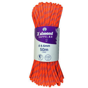 corde rappel 8.6 50m orange simond 2018