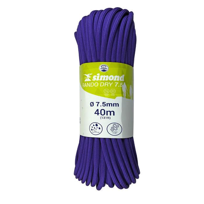 CORDE RANDO DRY 7.5mm x 40m violette - 1331492