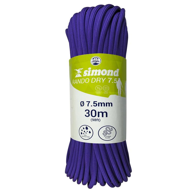 CORDE RANDO SEC 7,5 mm x 30 m violette
