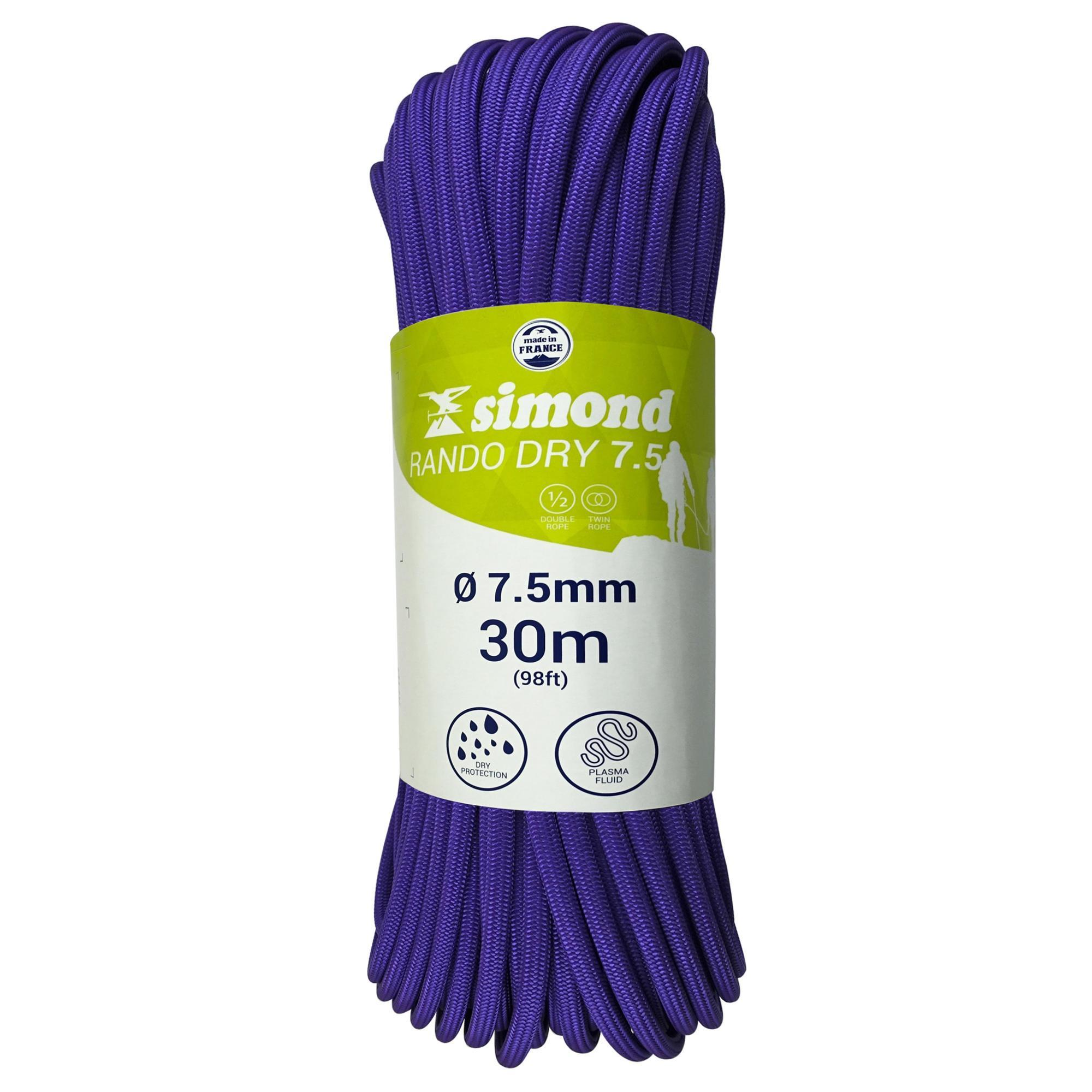 Simond Touw Rando Dry 7,5 mm x 30 m paars