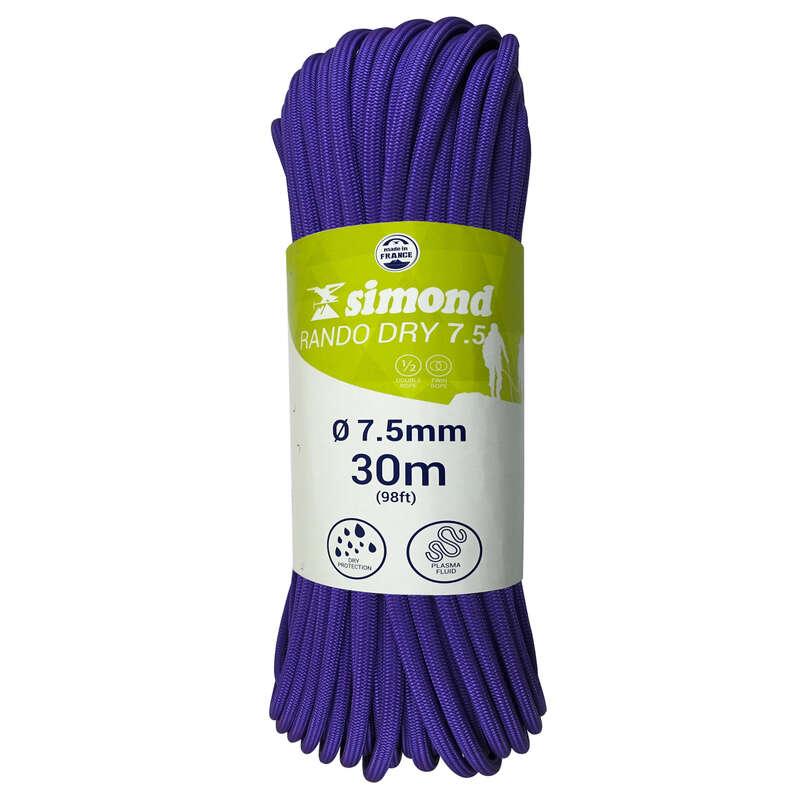 Веревки для скалолазания и мультипитча Альпинизм и скалолазание - ВЕРЕВКА RANDO DRY 7,5ММ X 30 М SIMOND - Страховочное снаряжение