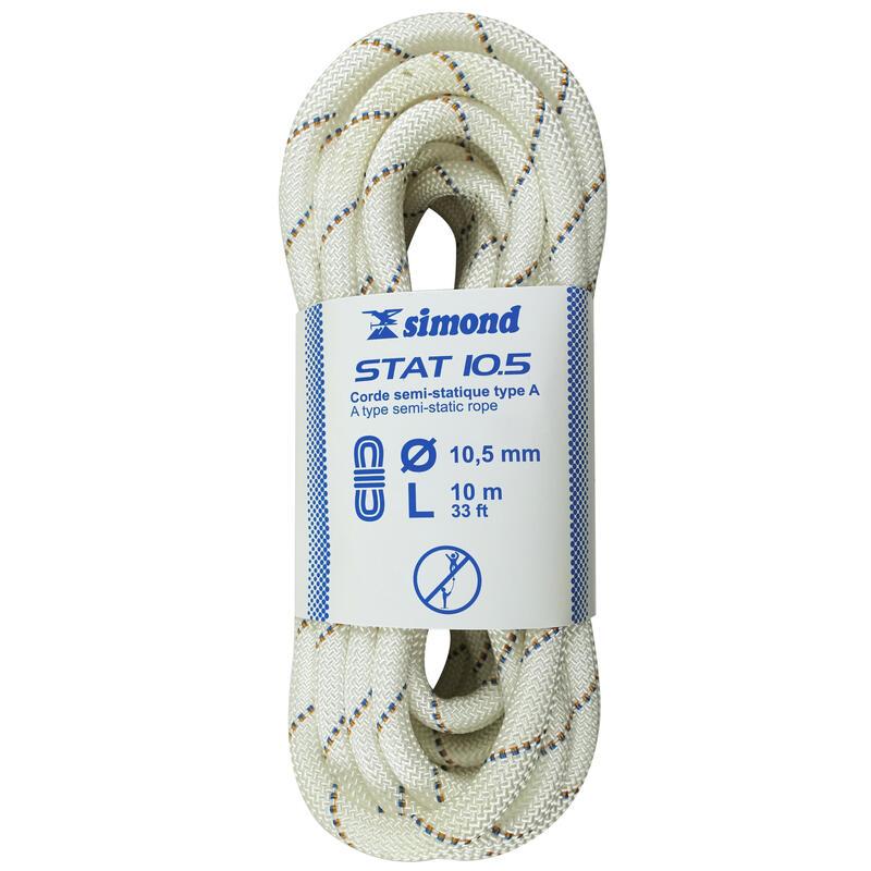 Corde Semi-Statique 10,5 mm x 10 m - STAT 10,5 Blanche