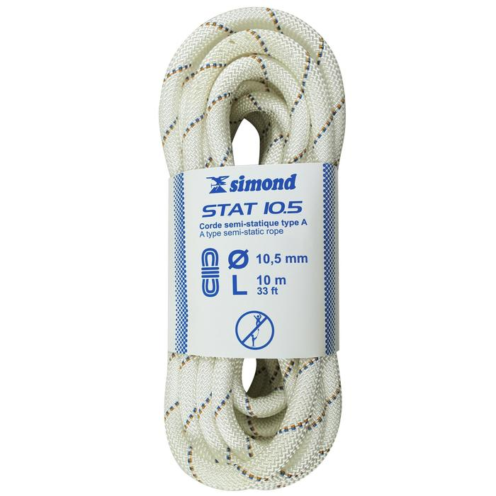 Corde Semi-Statique 10,5 mm x 10 m - STAT 10,5 Blanche