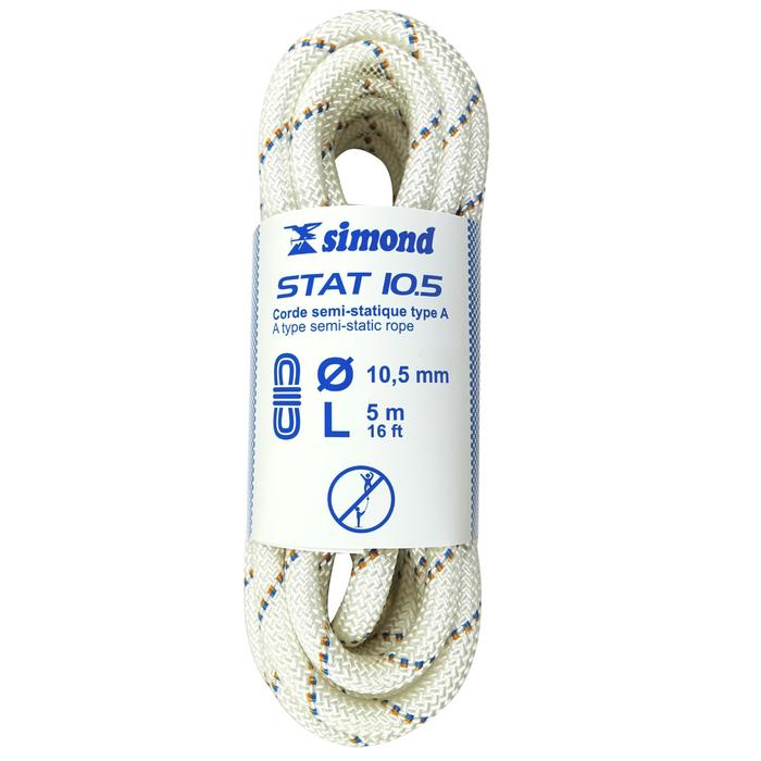 Corde Semi-Statique 10,5 mm x 5 m - STAT 10,5 Blanche