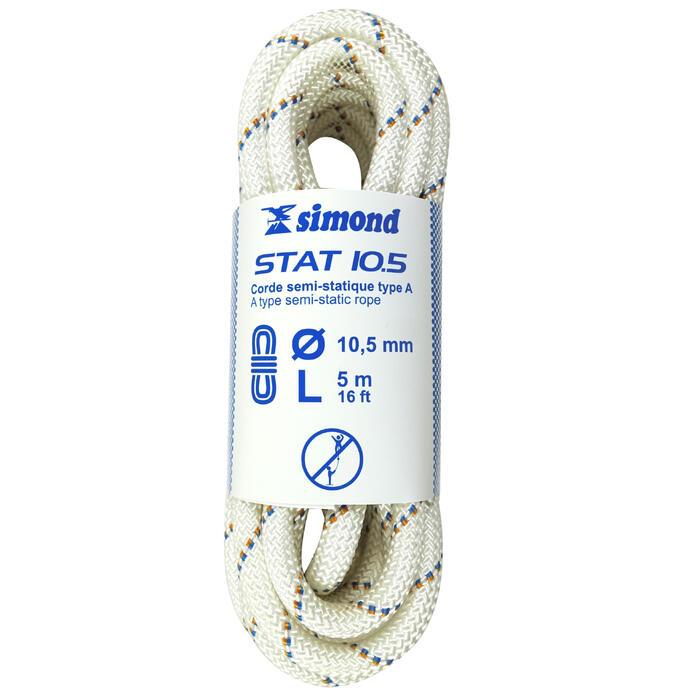 Semi-statisch touw Stat van 10,5 mm x 5 m - wit