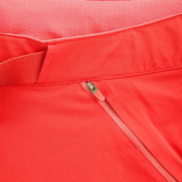 Pantalón corto de senderismo en montaña MH500 mujer rojo naranja