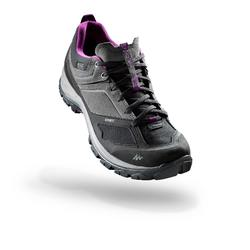MH500 Women's Waterproof Mountain Hiking Shoes - Grey/Purple