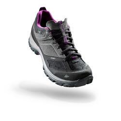 女性防水山區健行運動鞋 MH500 - 灰色/紫色