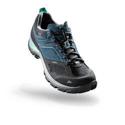 女性防水山區健行運動鞋 MH500 - 藍色