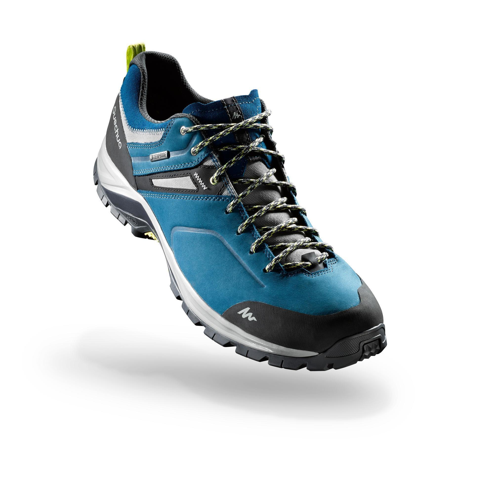 Mh500 Waterproof Men S Hiking Shoes Blue Quechua