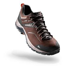 男士防水山區健行運動鞋 MH500 棕色