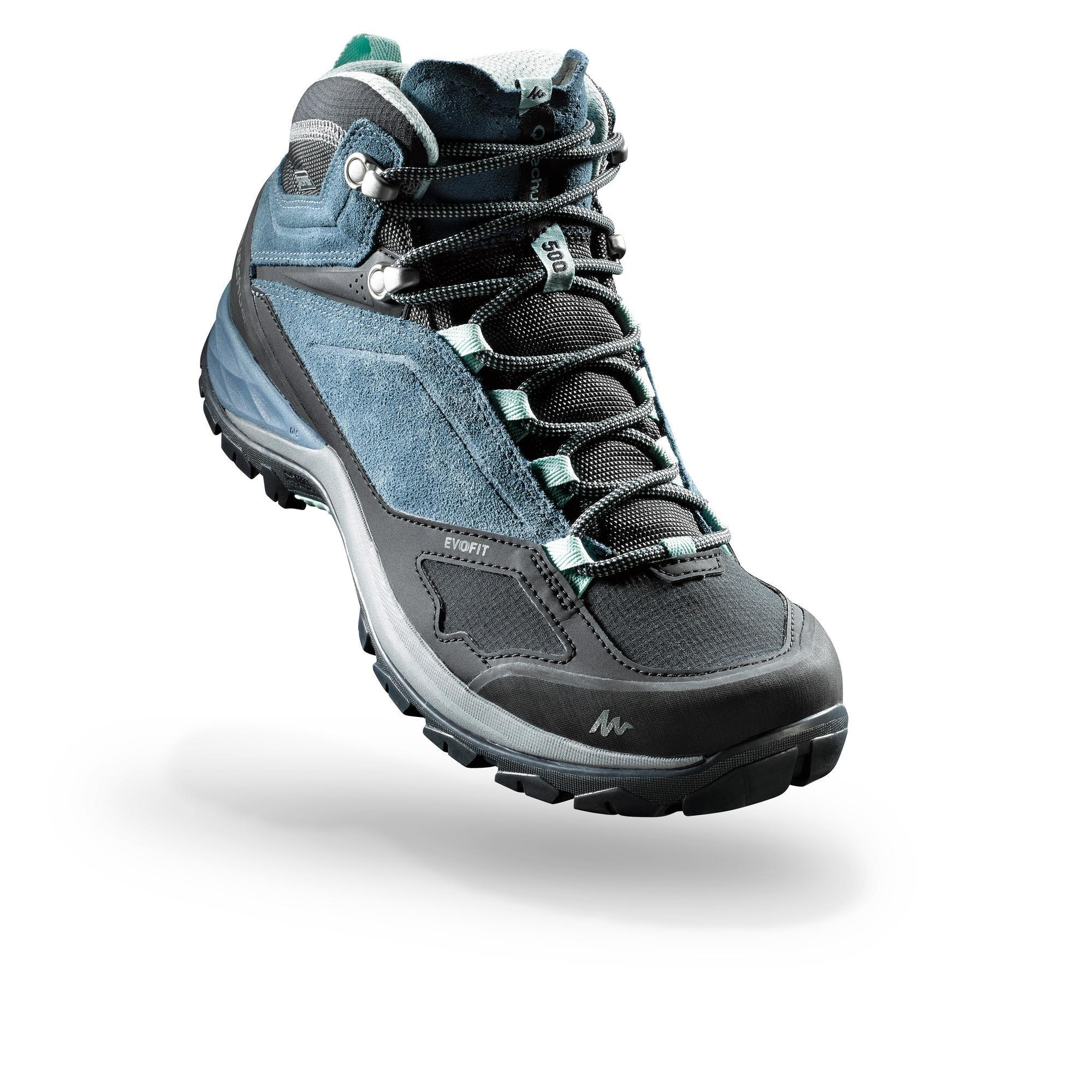 2553993 Quechua Waterdichte bergwandelschoenen voor dames MH500 mid blauw