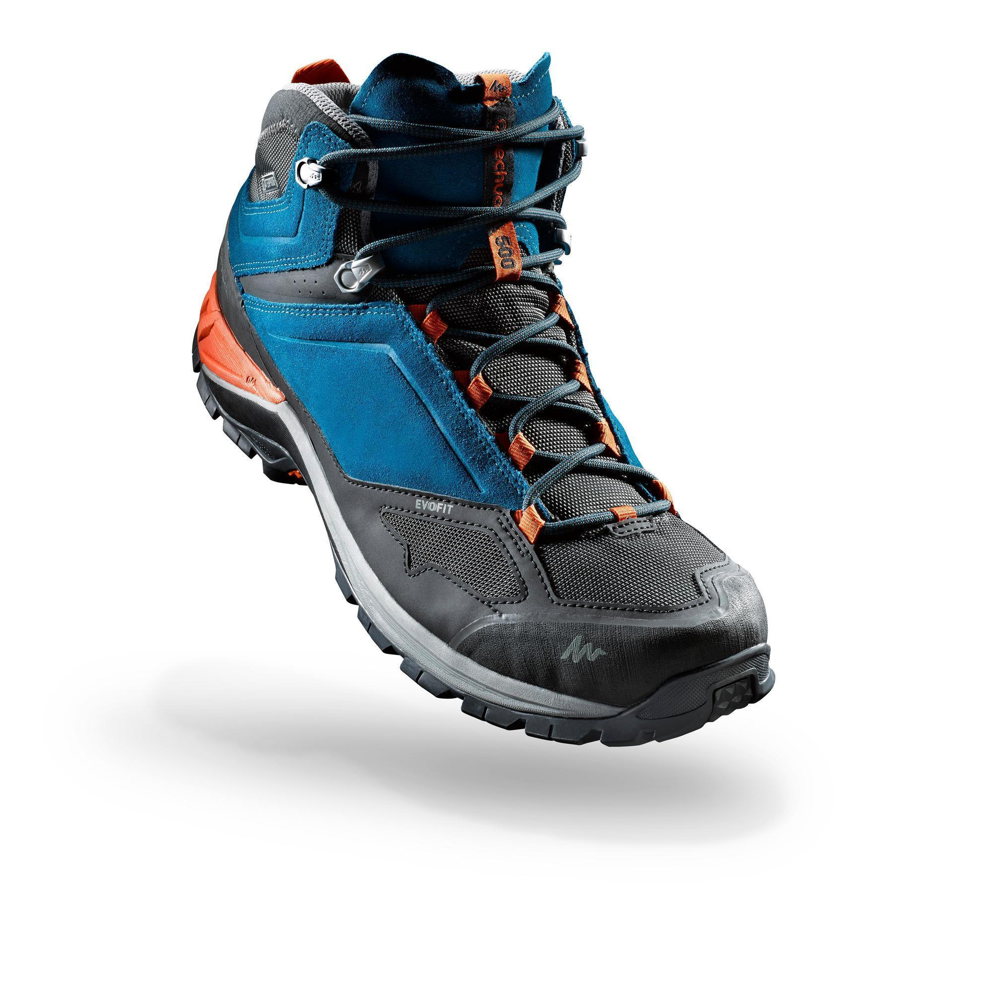 Mh500 Men S Mid Waterproof Mountain Hiking Boots Blue