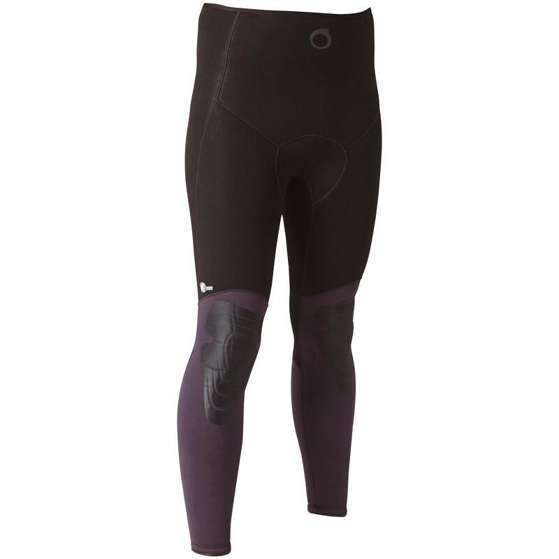 5 mm Plush Neoprene Spearfishing Wetsuit Trousers Temperate Water