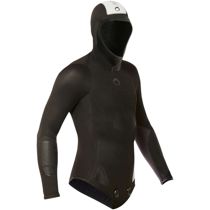 SPEARFISHING SUITS 16/24° Scuba Diving - SPF100 5mm spearfishing jacket SUBEA - Scuba Diving