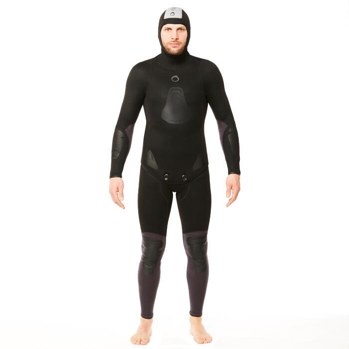 Veste chasse sous-marine apnée eau temperée 5 mm Plush