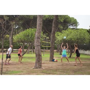 Volleybalnet / beachvolleybalnet BV100 Wiz Net, 4 meter breed geel - 1331871