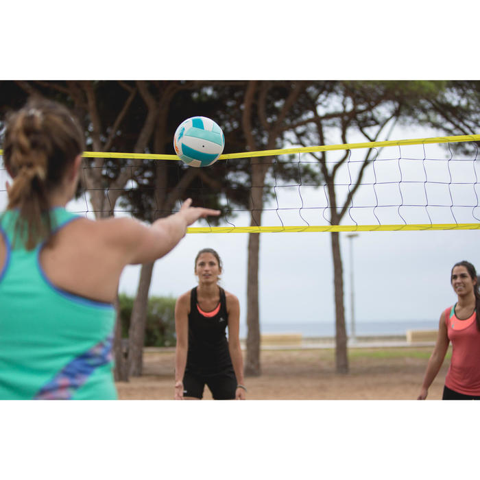 Volleybalnet / beachvolleybalnet BV100 Wiz Net, 4 meter breed geel - 1331880