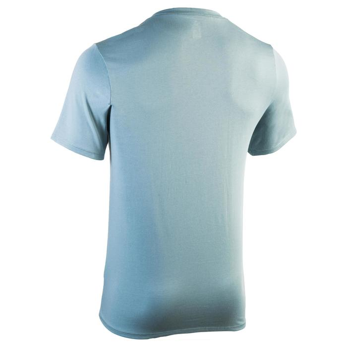 T-shirt 500 col V slim Gym Stretching homme - 1331887