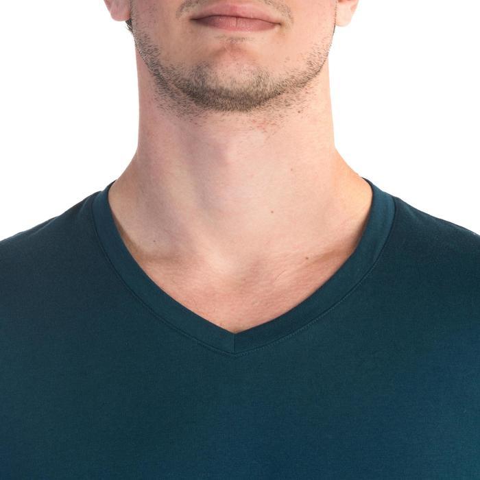 T-shirt 500 col V slim Gym Stretching homme - 1331892