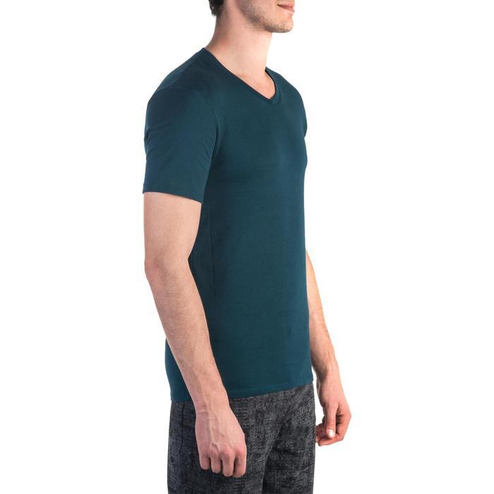T-shirt 500 col V slim Gym Stretching homme - 1331895
