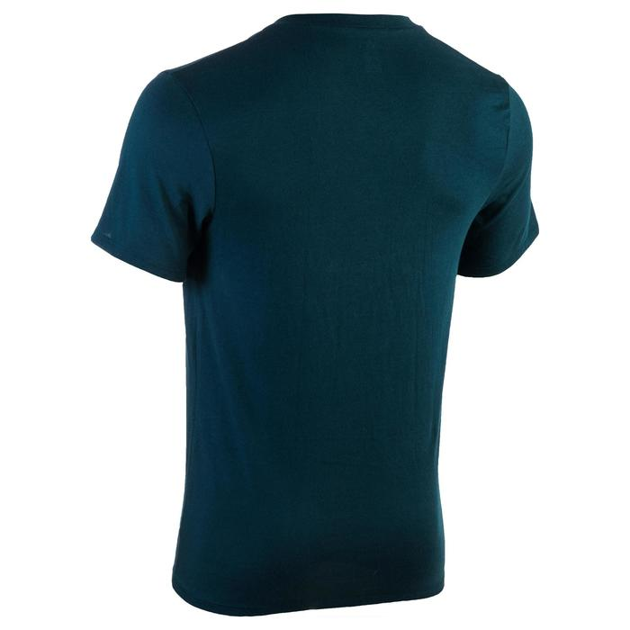 T-shirt 500 col V slim Gym Stretching homme - 1331898