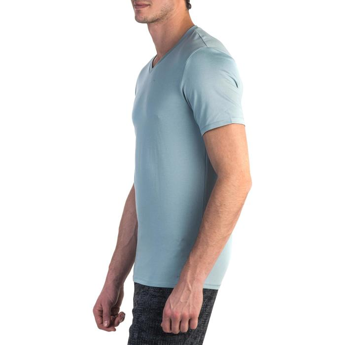T-shirt 500 col V slim Gym Stretching homme - 1331910