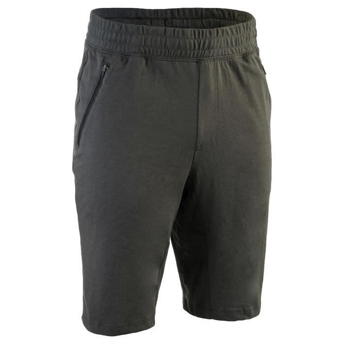 Short 520 slim au dessus du genou Gym Stretching noir homme - 1331914