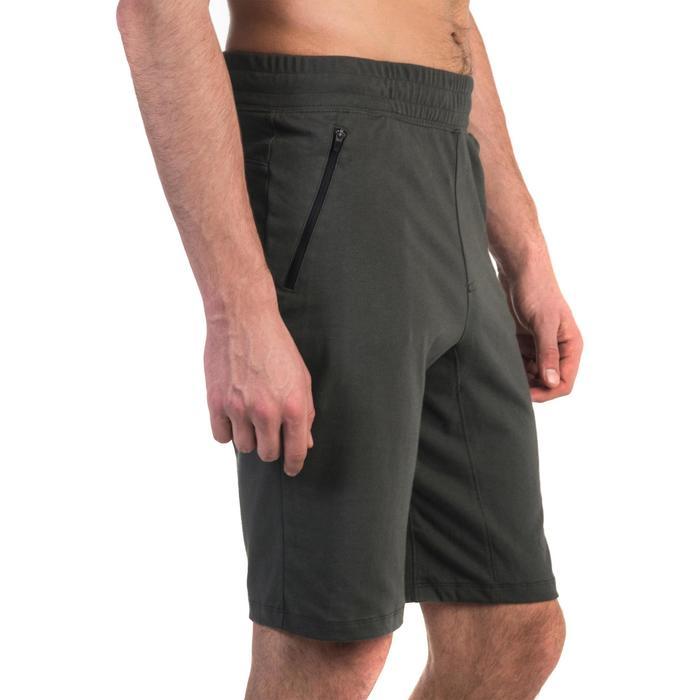 Short 520 slim au dessus du genou Gym Stretching noir homme - 1331919