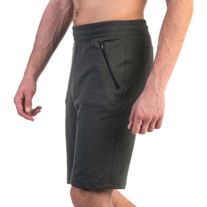 Short 520 slim au dessus du genou Gym Stretching noir homme - 1331923
