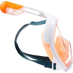 Máscara Snorkel Subea Easybreath Adulto Naranja